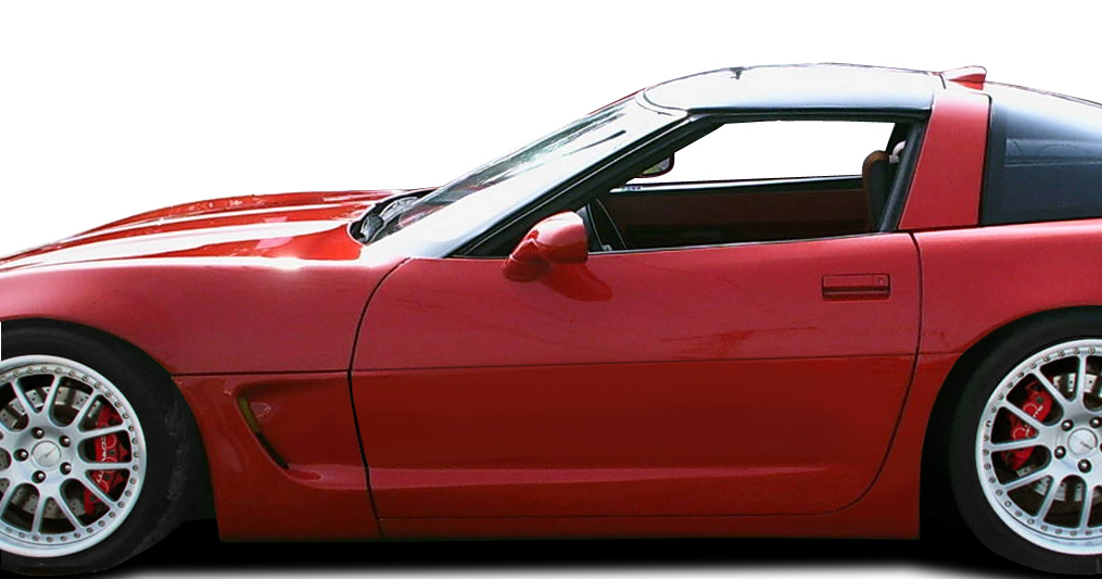 1984-1996 Chevrolet Corvette C4 Duraflex C5 Conversion Side Skirts Rocker  Panels with Doorcaps - 6 Piece