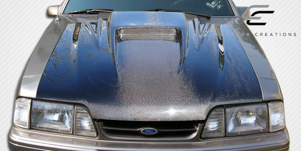 extreme dimensions - weight reduction carbon fiber    frp hoods fox body - 2016