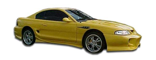 94-98 Ford Mustang Duraflex Vader Side Skirts Rocker Panels 2pc 101442