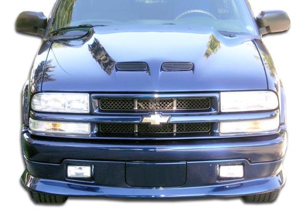 1998 Chevrolet S-10 ALL - Polyurethane Front Lip/Add On Bodykit - 1998-2004 Chevrolet S-10 Blazer Polyurethane Xtreme Front Lip Under Spoiler Air Dam