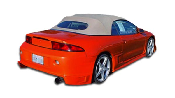 1995 Mitsubishi Eclipse ALL - Polyurethane Rear Bumper Bodykit - 1995-1999 Mitsubishi Eclipse Eagle Talon Polyurethane Blits Rear Bumper Cover - 1 Pie