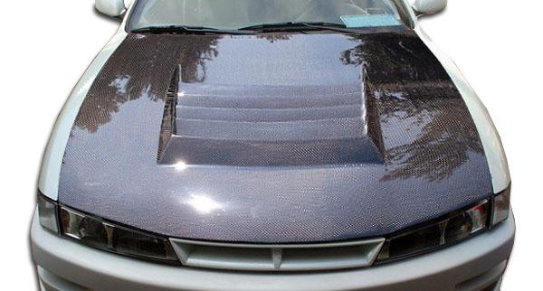 97 98 Fits Nissan 240sx D 1 Carbon Fiber Creations Body Kit Hood