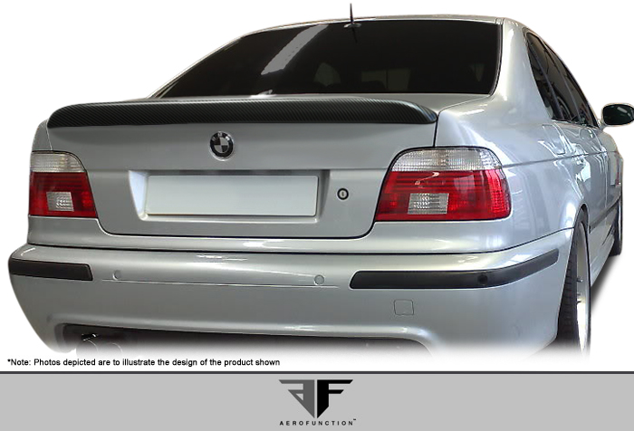 1997 BMW 5 Series 4DR - Carbon Fiber Fibre Wing Spoiler Bodykit - 1997-2003 BMW 5 Series E39 4DR AF-1 Trunk Spoiler ( CFP ) - 1 Piece