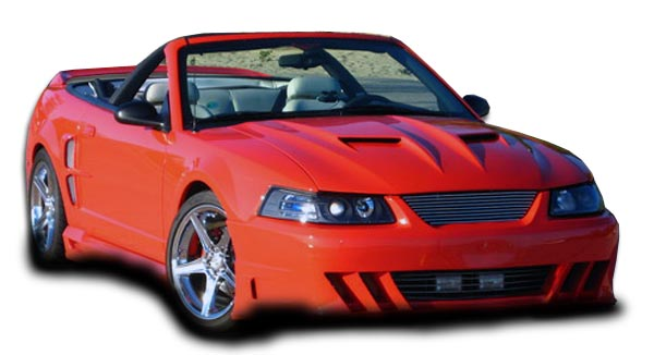 1999 Ford Mustang ALL - Polyurethane Bodykit Bodykit - 1999-2004 Ford Mustang Couture Demon Body Kit - 4 Piece - Includes Demon Front Bumper Cover - P
