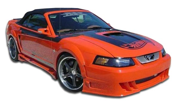1999 Ford Mustang ALL - Polyurethane Bodykit Bodykit - 1999-2004 Ford Mustang Couture Demon Body Kit - 8 Piece - Includes Demon Front Bumper Cover - P