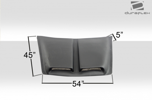 welcome to extreme dimensions    inventory item    universal duraflex spyder hood scoop