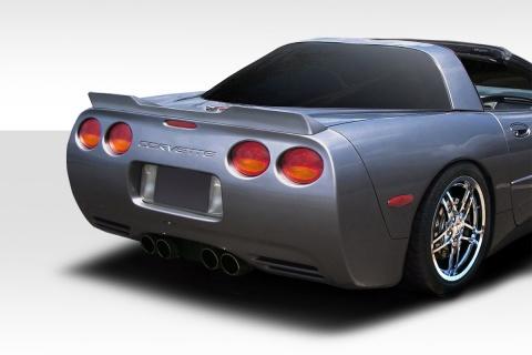 Duraflex C6 Wickerbill Rear Wing Spoiler 1 Piece for Corvette Chevrolet 05