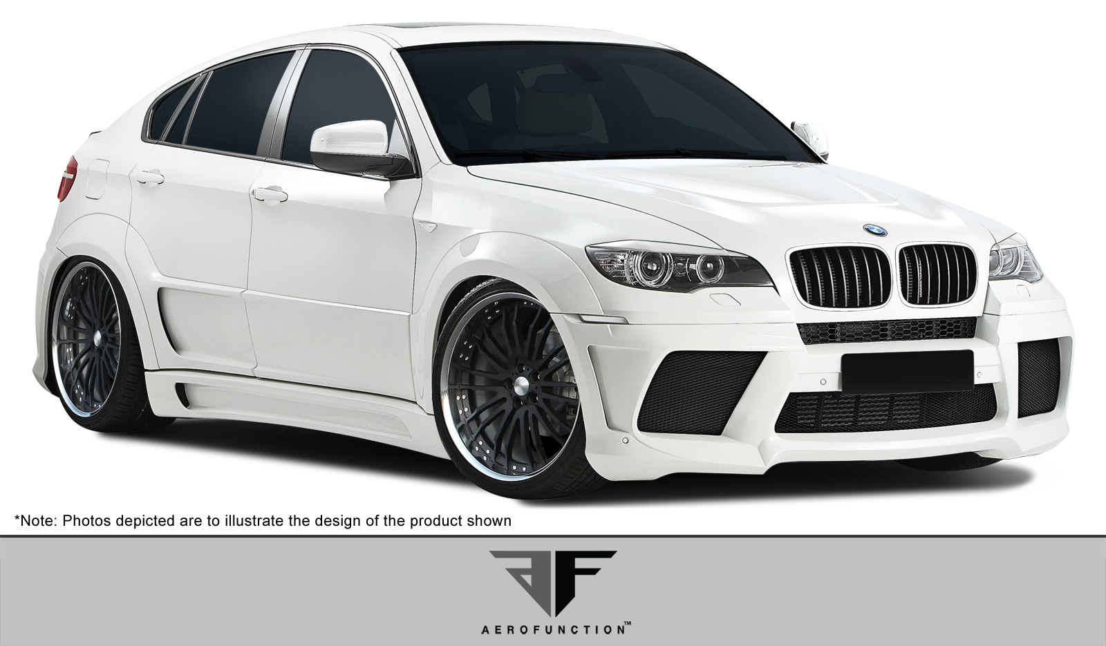 Other Body Kit Bodykit for 2014 BMW X6 ALL - BMW X6 X6M AF-3 Wide Body Kit ( GFK ) - 13 Piece - Includes AF-3 Wide Body Front Bumper Cover (1079