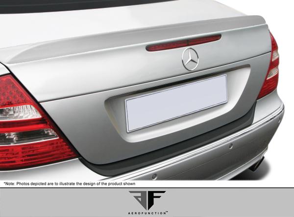 2009 Mercedes E Class 4DR - Fiberglass+ Wing Spoiler Bodykit - Mercedes E Class W211 4DR AF-1 Trunk Spoiler ( GFK ) - 1 Piece