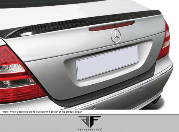 2003 Mercedes E Class 4DR - Carbon Fiber Fibre Wing Spoiler Bodykit - 2003-2009 Mercedes E Class W211 4DR AF-1 Trunk Spoiler ( CFP ) - 1 Piece