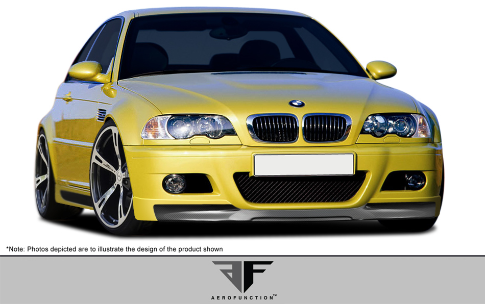 Other Bodykit Bodykit for 2001 BMW M3 2DR - 2001-2006 BMW M3 E46 2DR AF-2 Body Kit ( GFK CFP ) - 4 Piece - Includes AF-2 Front Add-On Spoiler (107888)
