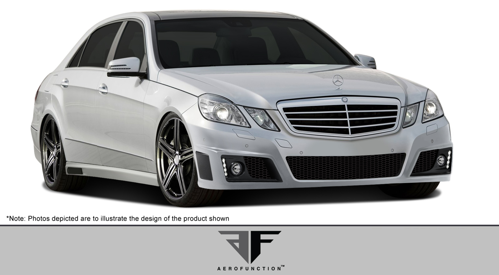 Polyurethane Bodykit Bodykit for 2010 Mercedes E Class 4DR - 2010-2013 Mercedes E Class W212 AF-2 Body Kit ( PUR-RIM ) - 5 Piece - Includes AF-2 Front