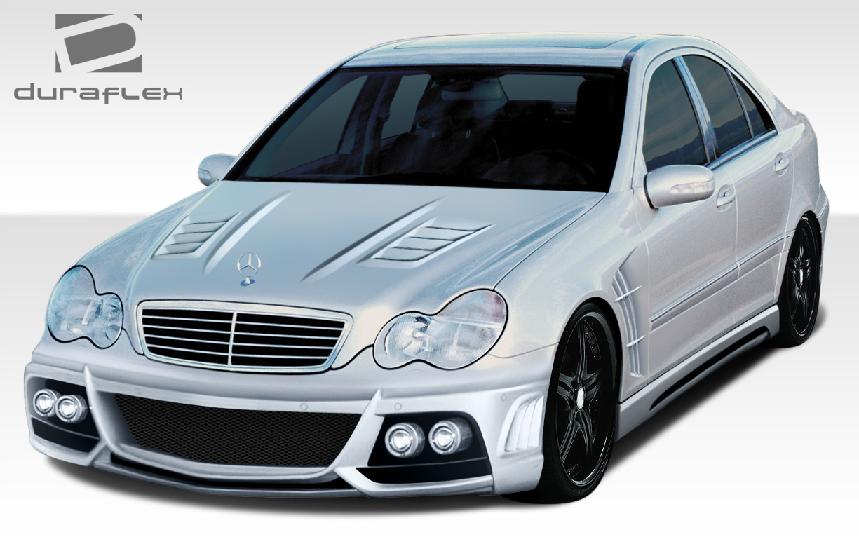 01-07 Mercedes C Class W-1 Duraflex 7 Pcs Full Body Kit!!! 108298 ...