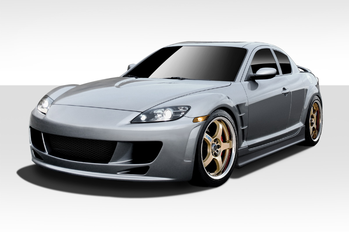2004 2008 mazda rx 8 duraflex x sport body kit 4 piece body kit ebay. Black Bedroom Furniture Sets. Home Design Ideas