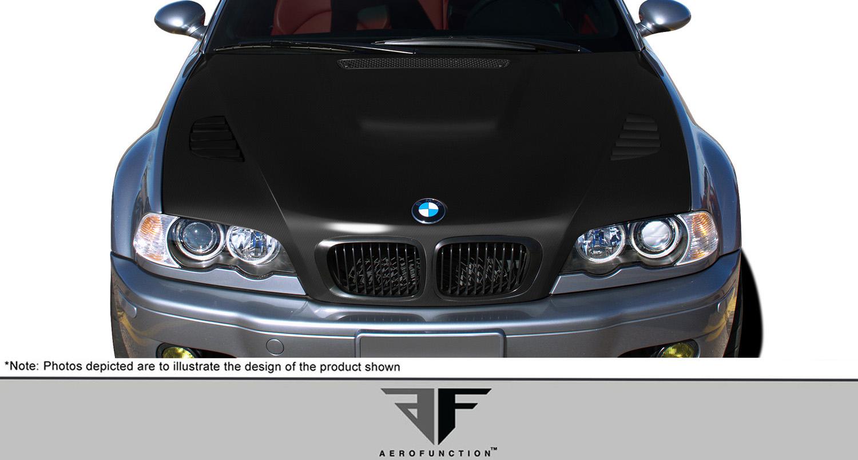 2002 BMW 3 Series 2DR - Carbon Fiber Fibre Hood Bodykit - 2002-2006 3 Series E46 2DR AF-2 Hood ( CFP ) - 1 Piece
