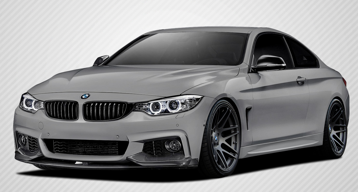 2016 BMW 4 Series ALL - Carbon Fiber Fibre Body Kit Bodykit - BMW 4 Series F32 Carbon Creations M Performance Look Body Kit - 5 Piece - Includes M Per