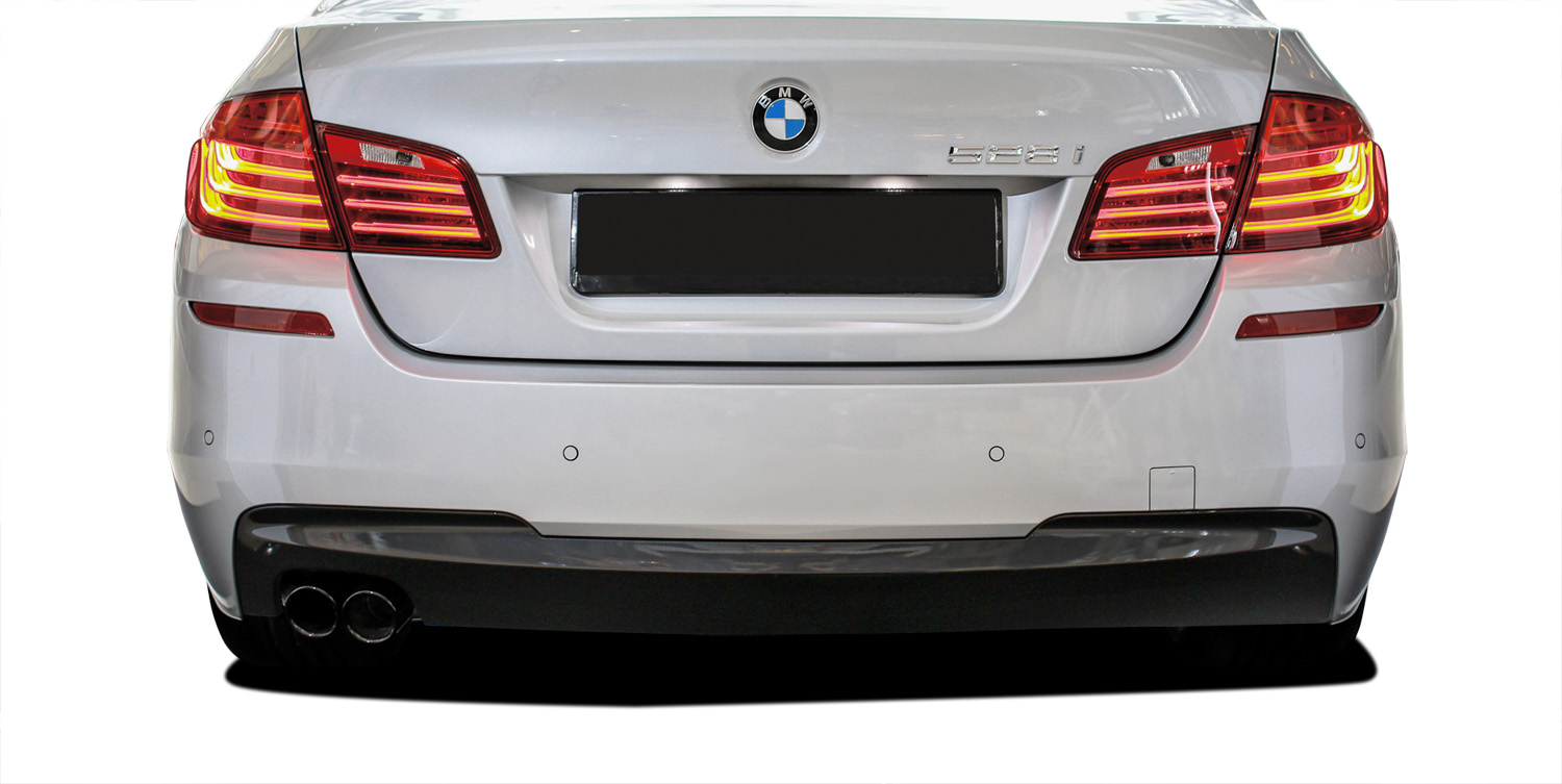 2016 BMW 5 Series 4DR - Polypropylene Rear Bumper Bodykit - BMW 5 Series 528i F10 4DR Vaero M Sport Look Rear Bumper Cover ( with PDC ) - 2 Piece