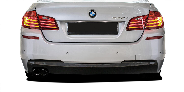 2016 BMW 5 Series 4DR - Polypropylene Rear Bumper Bodykit - BMW 5 Series 528i F10 4DR Vaero M Sport Look Rear Bumper Cover ( with PDC ) - 2 Piece