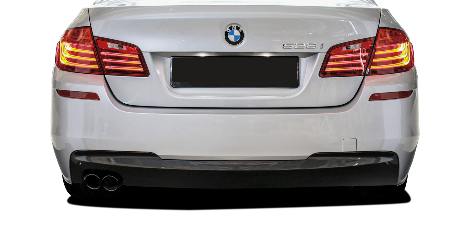 2016 BMW 5 Series 4DR - Polypropylene Rear Bumper Bodykit - BMW 5 Series 528i F10 4DR Vaero M Sport Look Rear Bumper Cover ( without PDC ) - 2 Piece