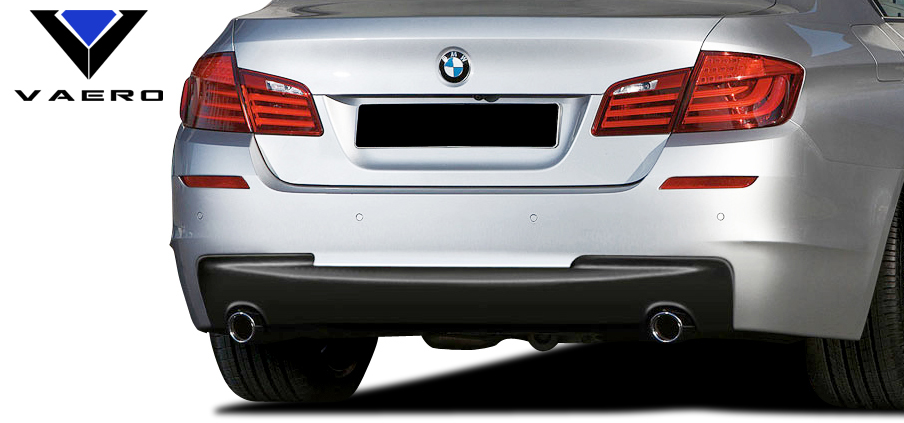 2016 BMW 5 Series 4DR Rear Bumper Bodykit - BMW 5 Series 535i F10 4DR Vaero M Sport Look Rear Bumper Cover ( with PDC ) - 2 Piece