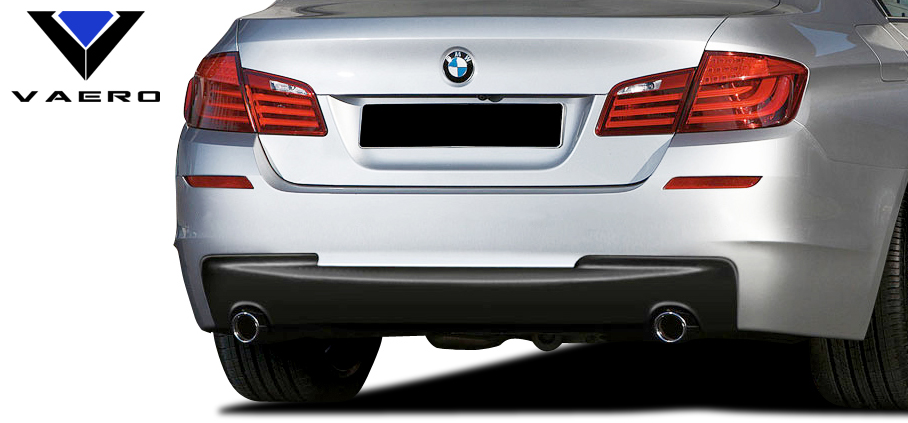 2016 BMW 5 Series 4DR - Polypropylene Rear Bumper Bodykit - BMW 5 Series 535i F10 4DR Vaero M Sport Look Rear Bumper Cover ( without PDC ) - 2 Piece
