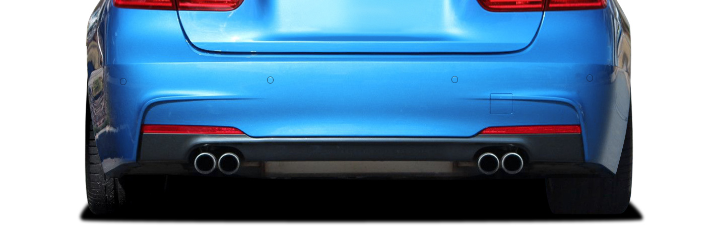 2015 BMW 3 Series ALL - Polypropylene Rear Bumper Bodykit - BMW 3 Series 328i (with quad exhaust) F30 Vaero M Sport Look Rear Bumper Cover ( with PDC