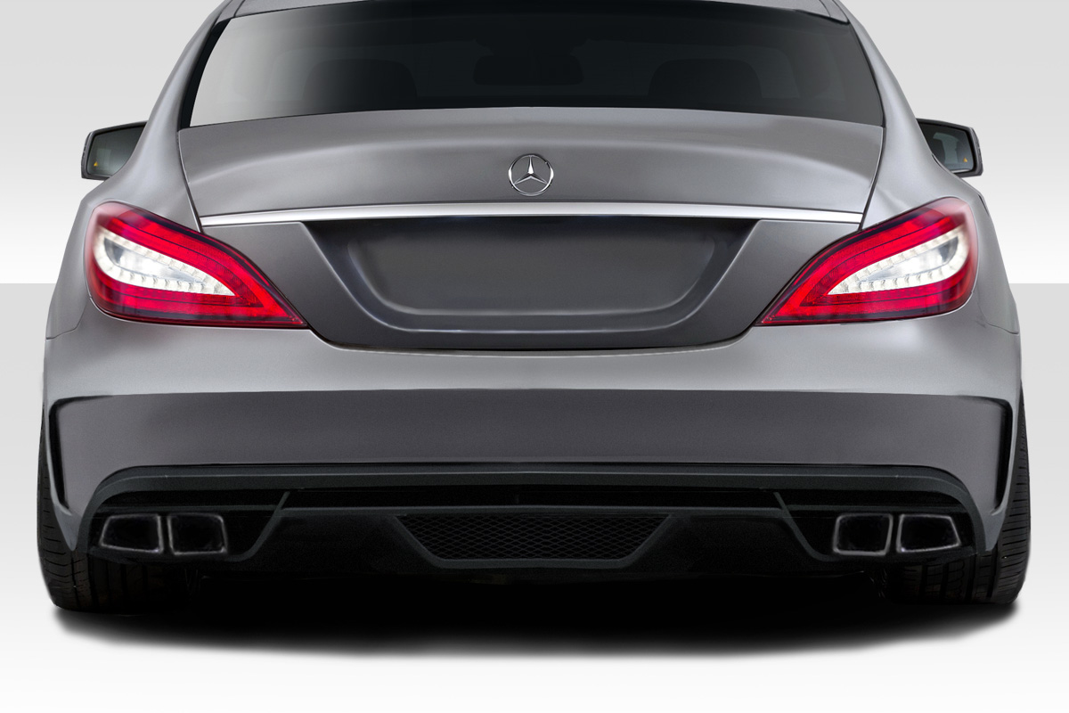 fiberglass rear bumper body kit for 2007 mercedes cls mercedes cls c219 w219 duraflex black. Black Bedroom Furniture Sets. Home Design Ideas