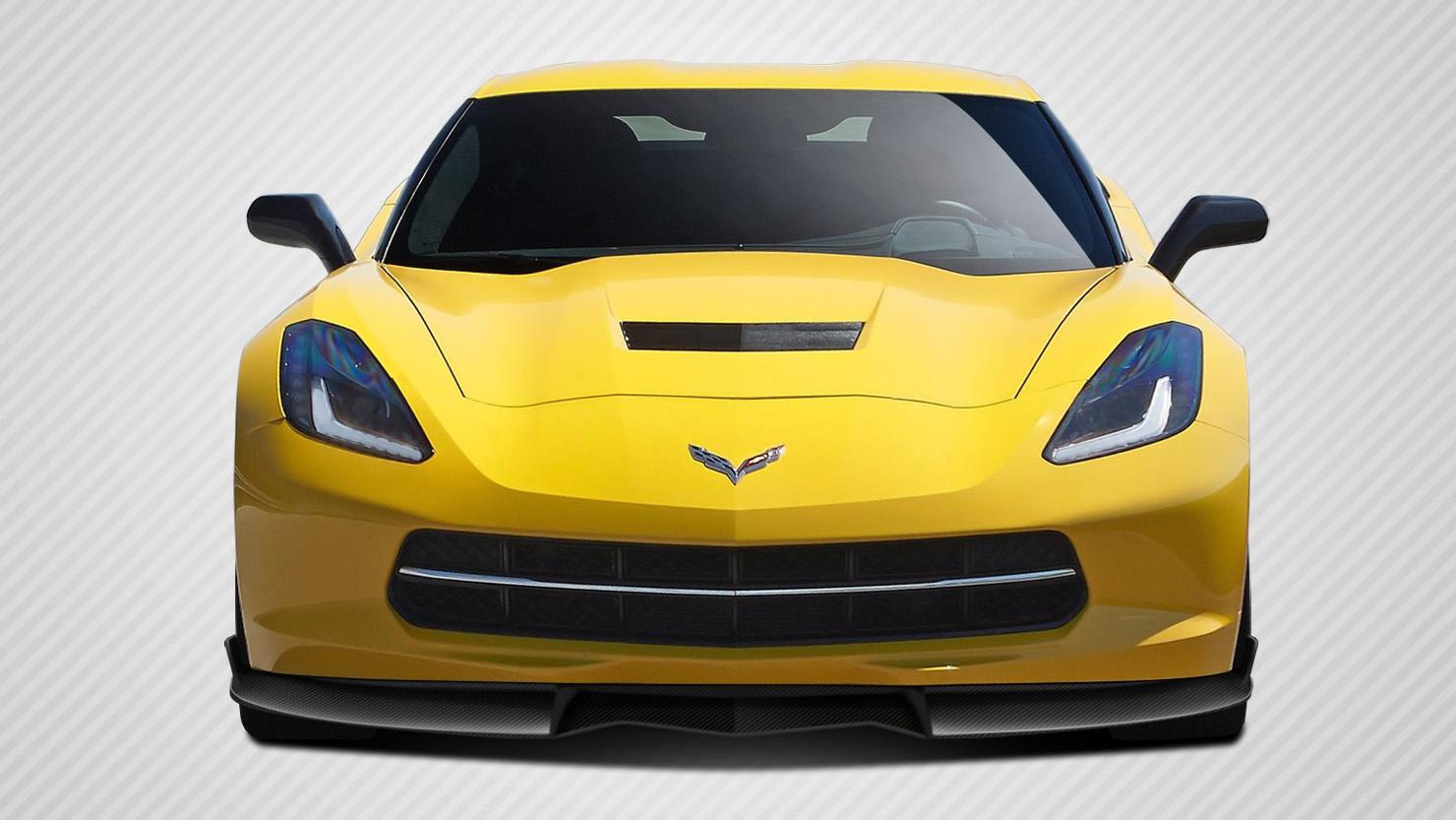 Front Lip/Add On Bodykit for 2016 Chevrolet Corvette ALL - Chevrolet Corvette C7 Carbon Creations GT Concept Front Lip Under Air Dam Spoiler - 1 Piece