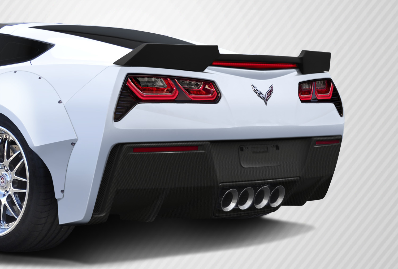 2016 Chevrolet Corvette ALL Rear Lip/Add On Bodykit - Chevrolet Corvette C7 Carbon Creations GT Concept Rear Diffuser - 2 Piece