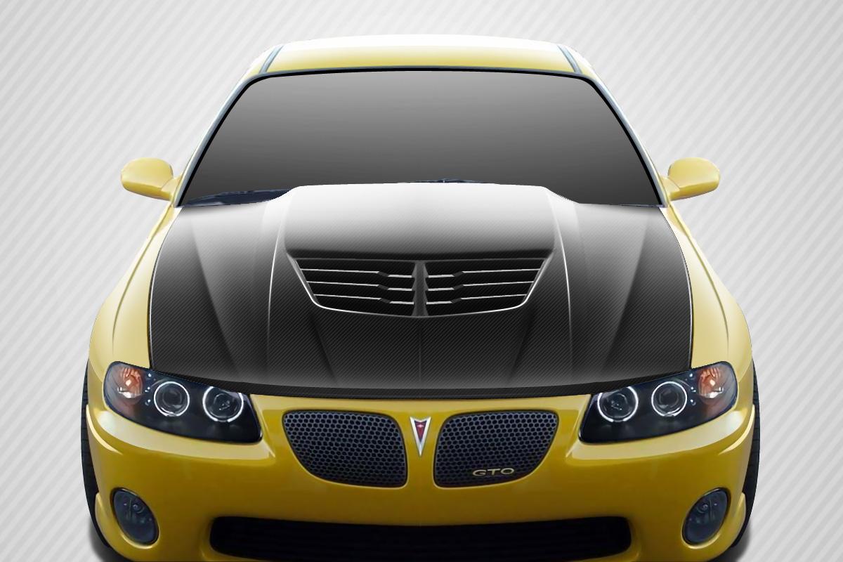 2006 Pontiac GTO ALL - Carbon Fiber Fibre Hood Bodykit - Pontiac GTO Carbon Creations Stingray Z Hood - 1 Piece