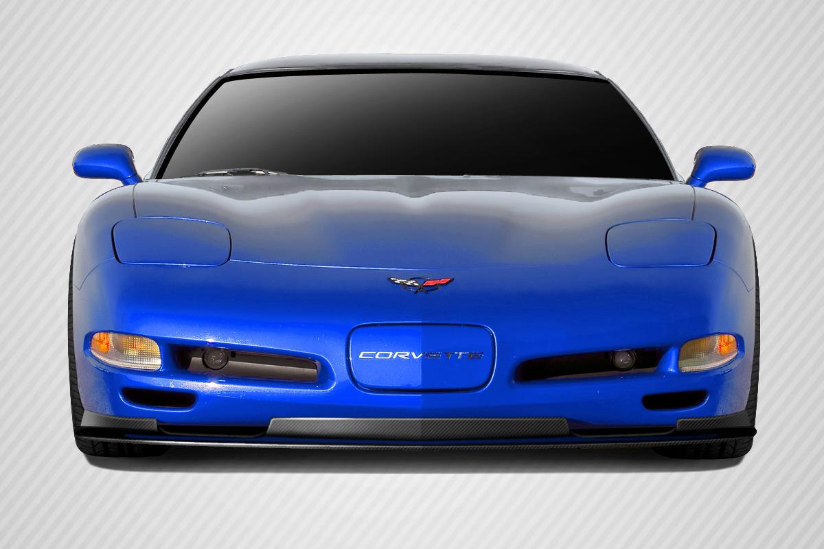 Front Lip/Add On Bodykit for 2004 Chevrolet Corvette ALL - Chevrolet Corvette Carbon Creations ZR1 Look Front Lip Splitter - 1 Piece