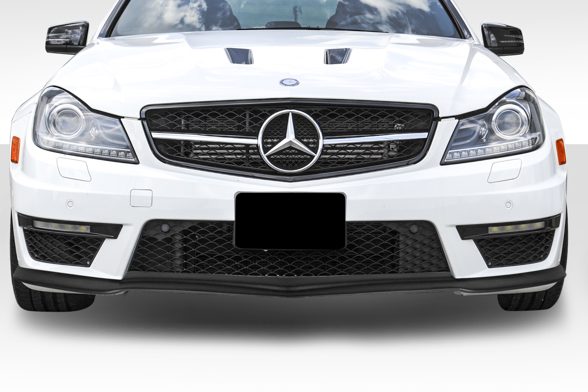 front lip add on body kit for 2012 mercedes c class mercedes c63 w204 duraflex bs look front. Black Bedroom Furniture Sets. Home Design Ideas