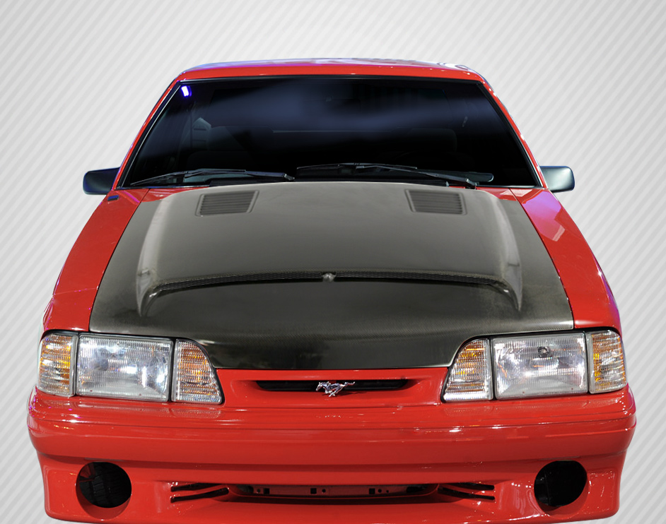 1987-1993 Ford Mustang Carbon Creations DriTech GT500 Hood