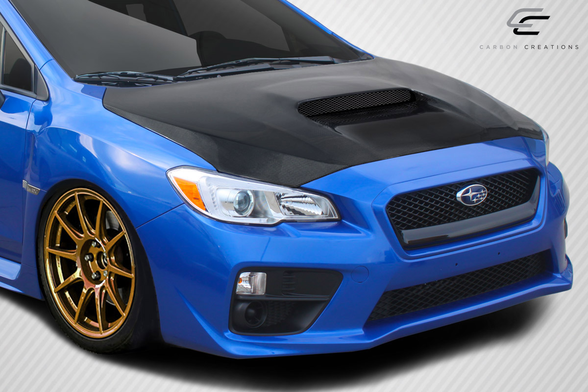 carbon fiber fibre hood body kit for 2016 subaru impreza. Black Bedroom Furniture Sets. Home Design Ideas