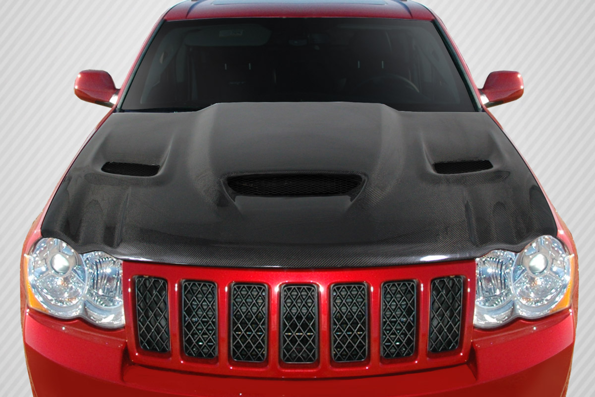 2006 jeep grand cherokee hood body kit jeep grand cherokee carbon creations dritech hellcat. Black Bedroom Furniture Sets. Home Design Ideas