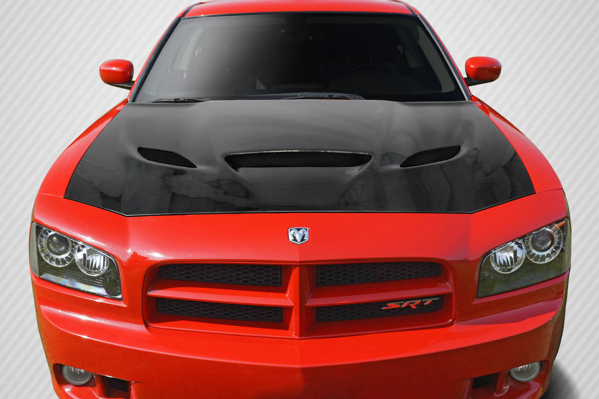 2006-2010 Dodge Charger Carbon Creations DriTech Hellcat Look Hood
