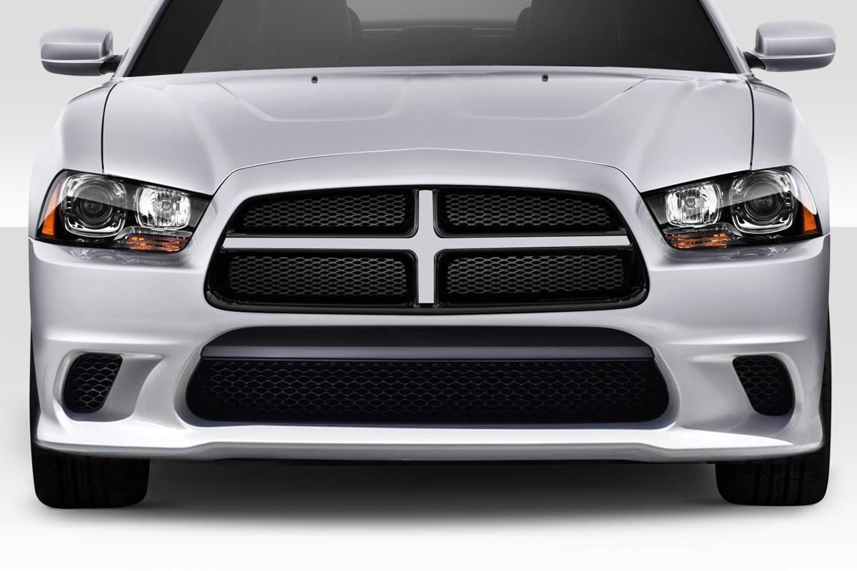 2011-2014 Dodge Charger Duraflex Hellcat Look Front Bumper - 1 Piece