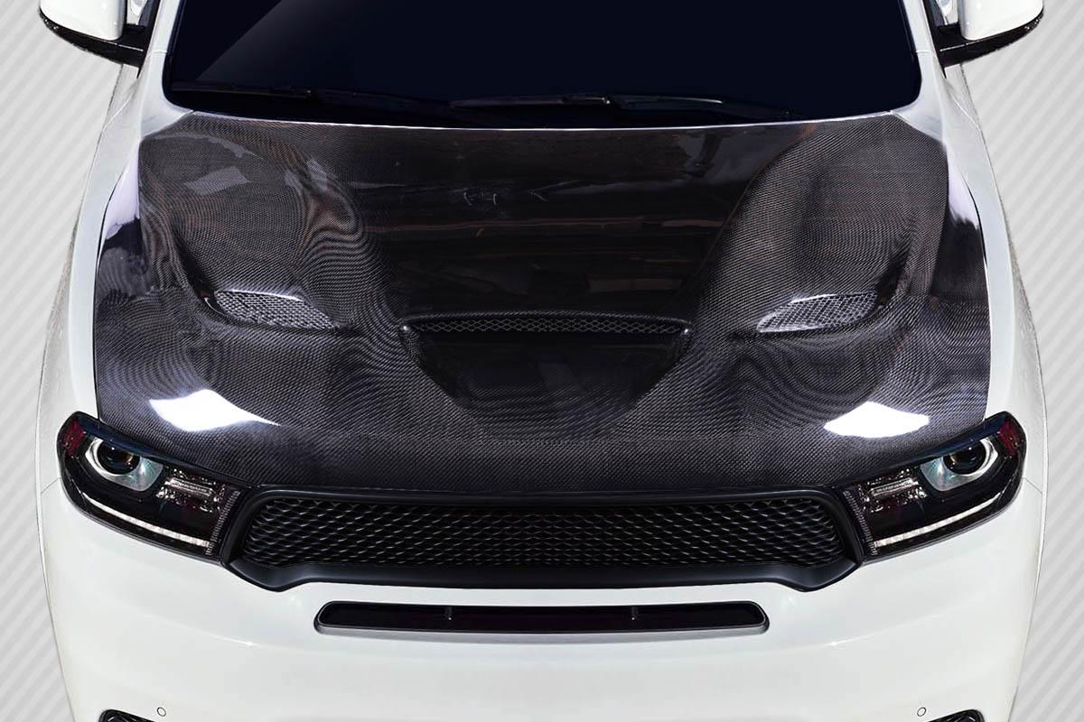 11 19 Dodge Durango Srt Hellcat Look Carbon Fiber Creations Body Kit Hood 115436 Ebay