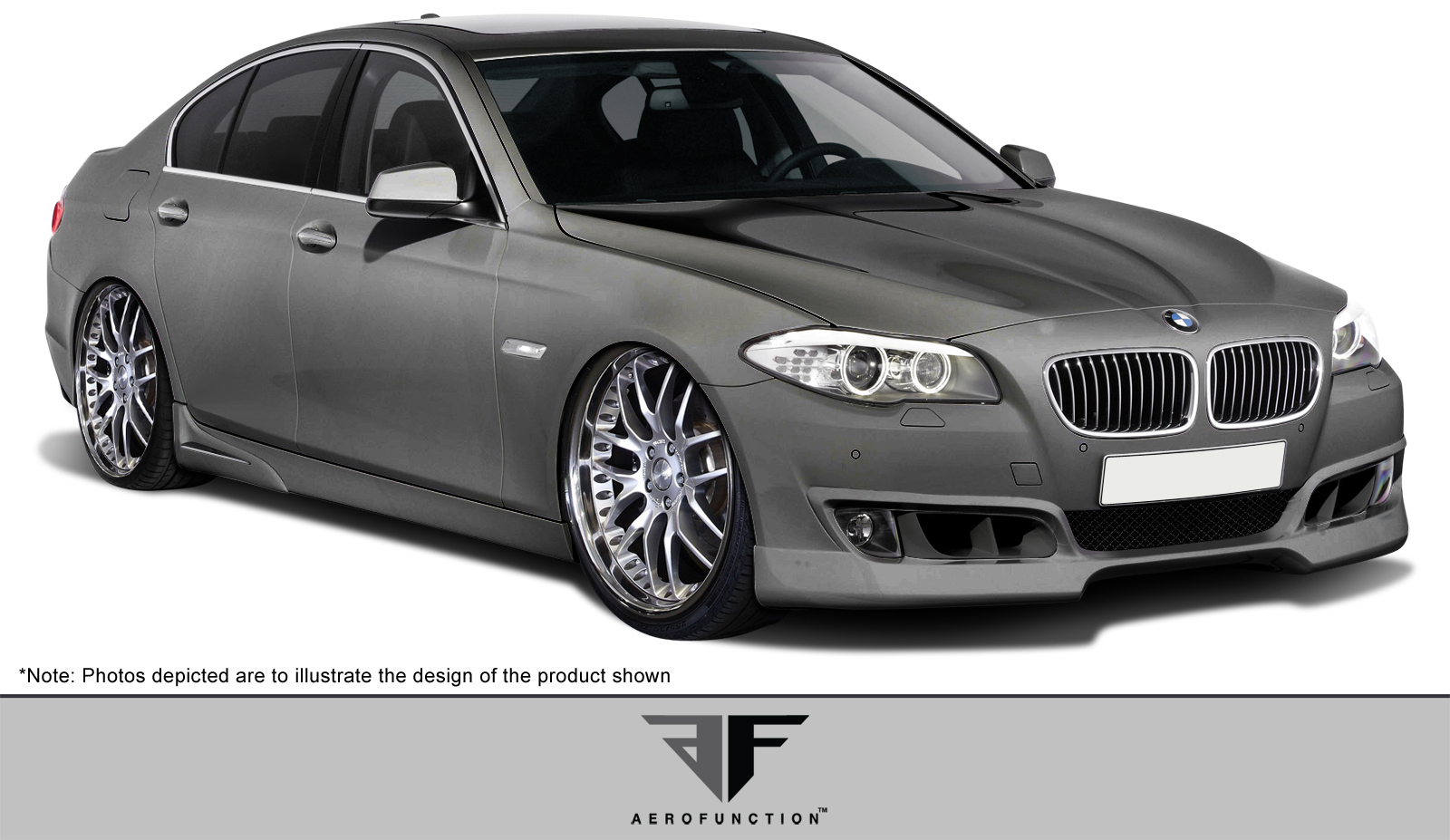 Polyurethane Body Kit Bodykit for 2013 BMW 5 Series 4DR - BMW 5 Series F10 AF-1 Body Kit ( PUR-RIM ) - 4 Piece - Includes F10 AF1 Front Add-On Spoiler